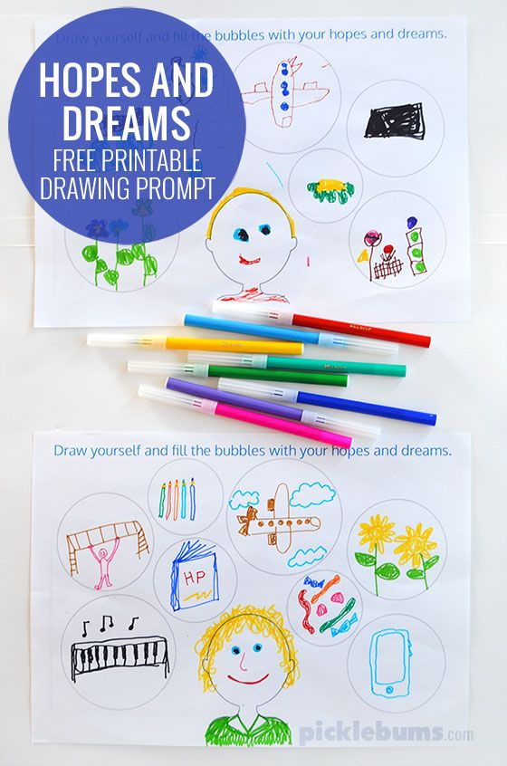 560x846 Hopes Dreams Drawing Prompt Prompts, Free Printable
