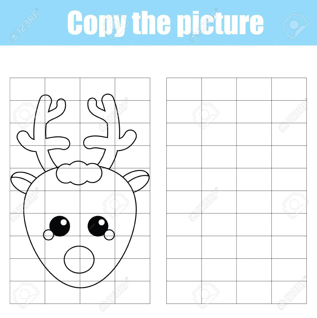 1296x1300 Copy The Picture Using A Grid Children Educational Drawing Game