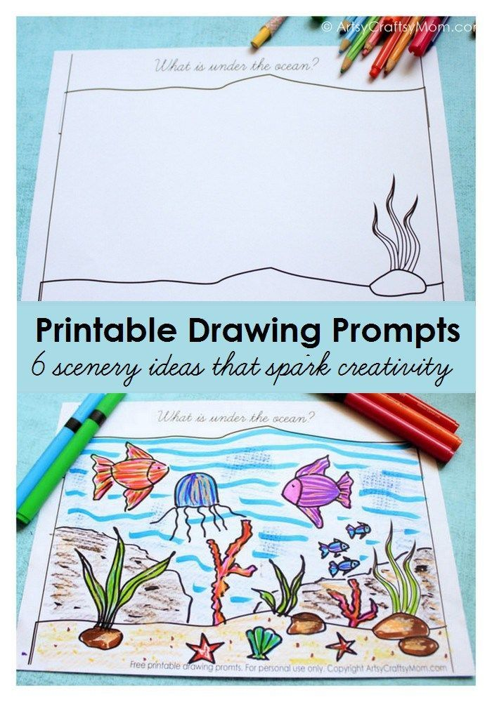 700x1000 Free Printable Scenery Drawing Prompts To Spark Creativity