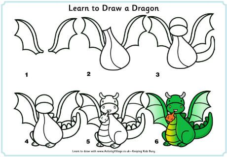 460x319 Learn To Draw A Dragon How To Draw Dragons