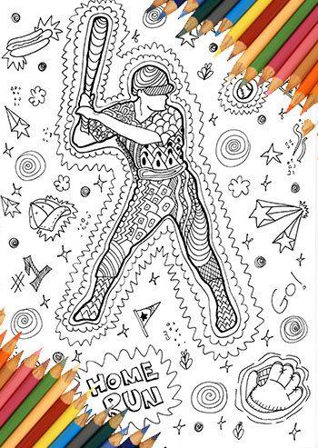 350x493 Baseball Man Coloring, Coloring Page Baseball, Sport Coloring Page