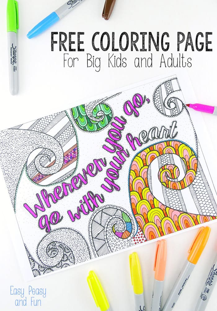700x1000 Free Coloring Page For Adults