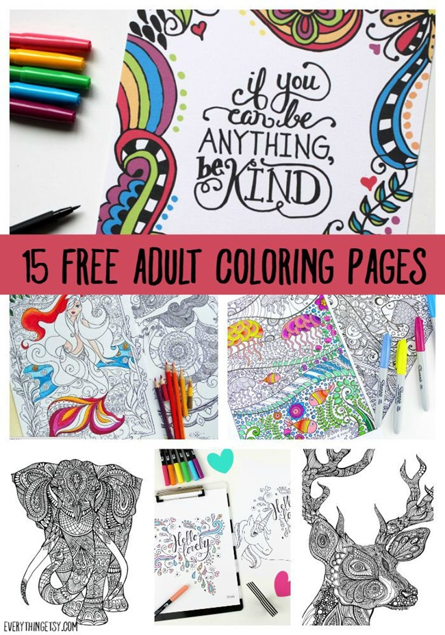 650x927 Printable Coloring Pages For Adults {15 Free Designs