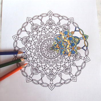 354x354 Adult Coloring Page