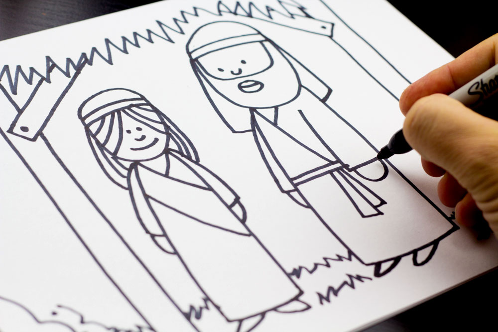 1000x667 How To Draw Mary And Joseph