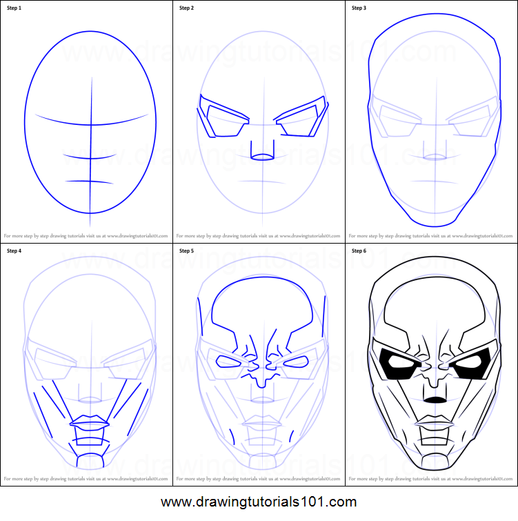 751x755 How To Draw New 52 Red Hood Mask Printable Step By Step Drawing