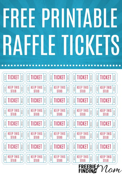 printable drawing tickets