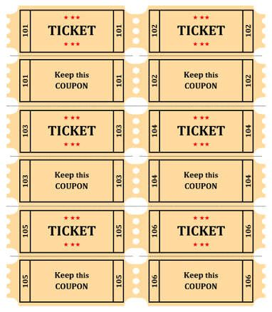 image relating to Tickets Printable known as Printable Drawing Tickets at  Absolutely free for