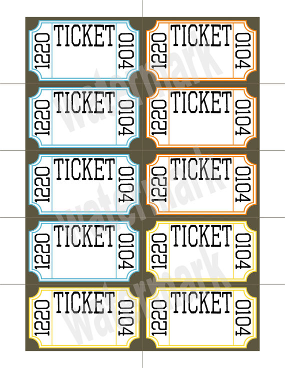 printable drawing tickets at getdrawings com free for personal use