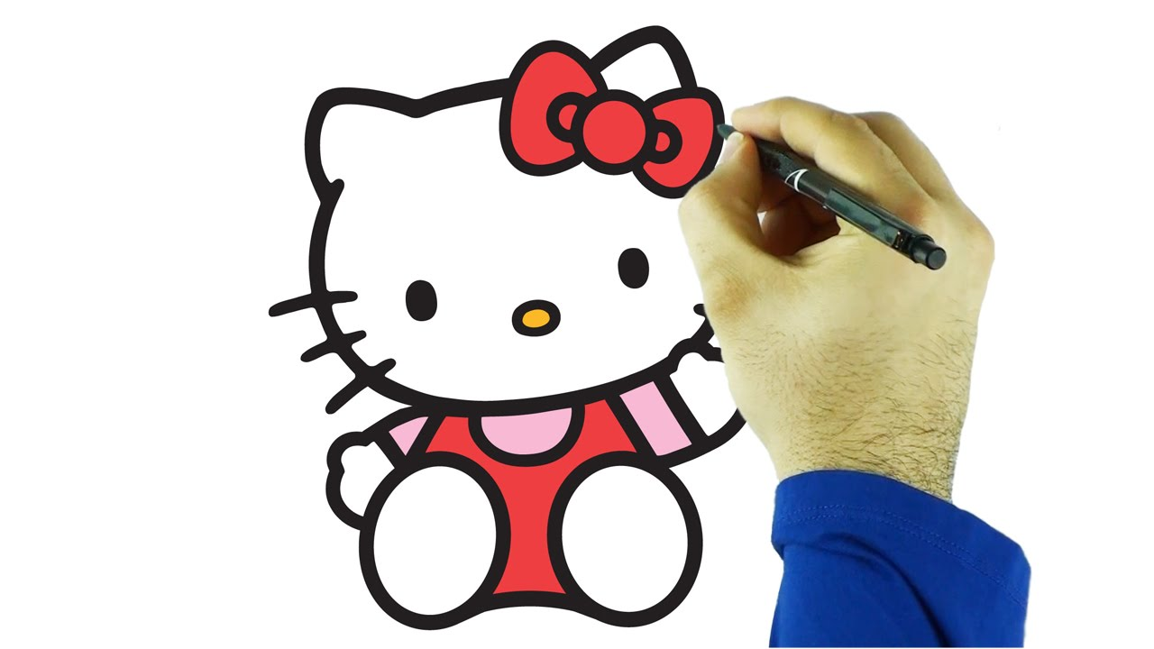 1280x720 Hello Kitty Draw And Color Drawing And Coloring Hello Kitty Just