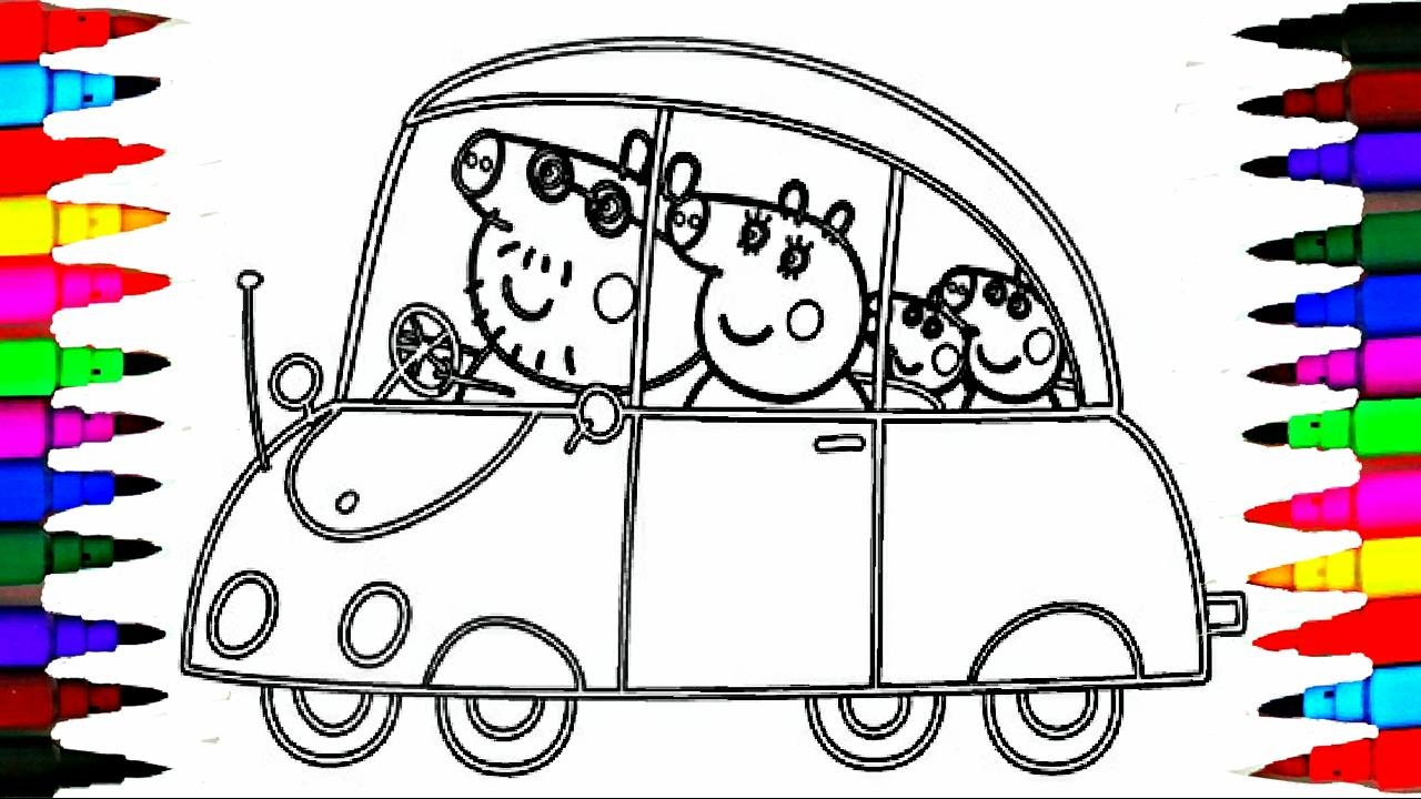 1280x720 Peppa Pig Coloring Book Pages Kids Fun Art Activities Videos