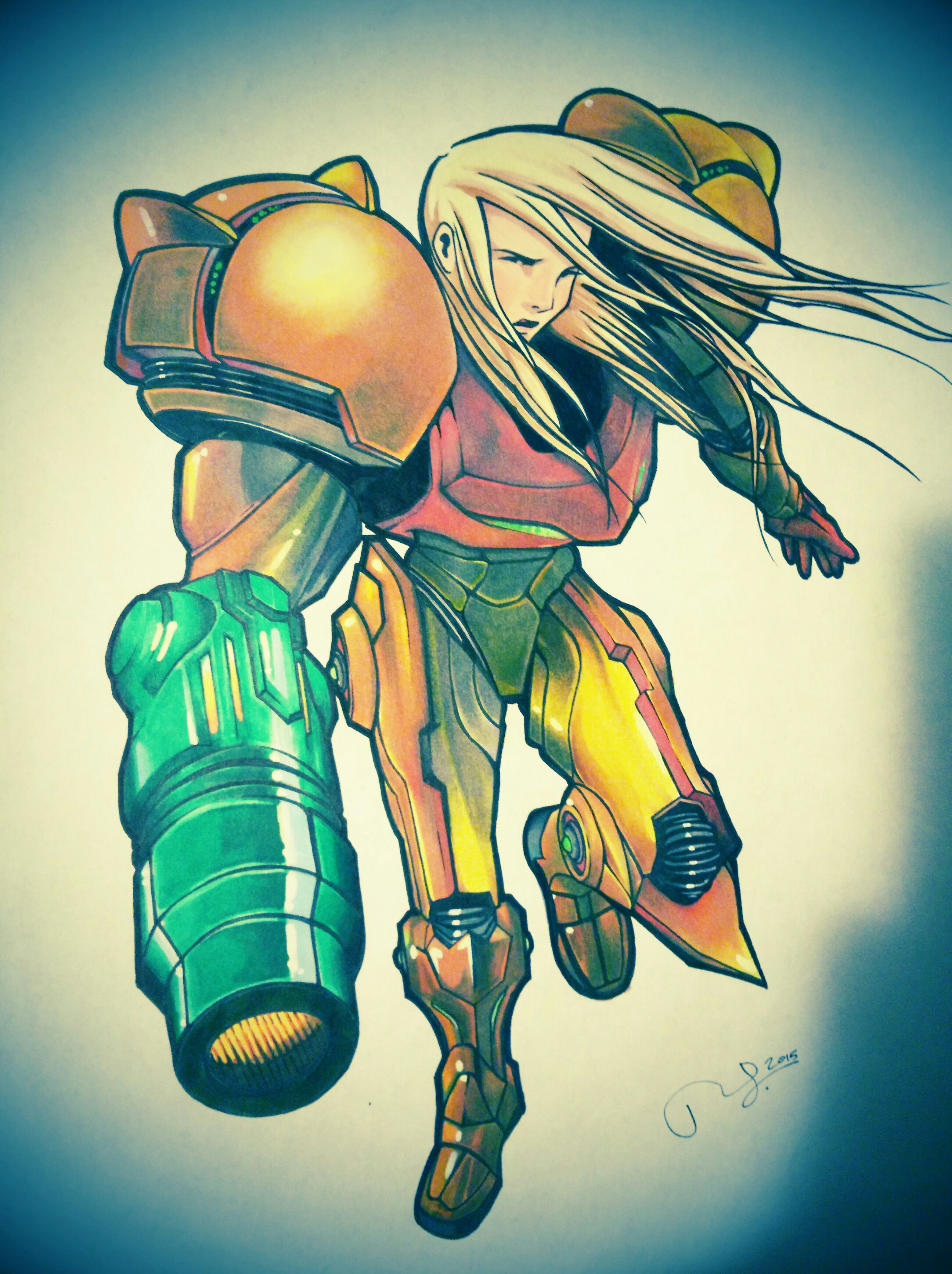 3120x4174 Drawing With Prismacolor Markers Samus Drawing I Did Using