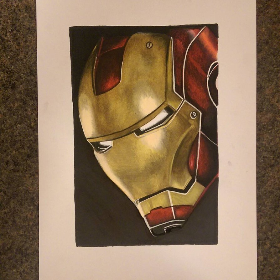 894x894 Iron Man Prismacolor And Copic Marker Drawing By Gah Art 87