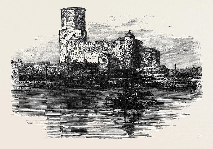 900x633 Siberia The Castle Prison At Wiborg Drawing By English School