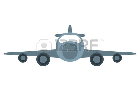 450x295 Drawing Jet Airplane Private Transport Front View Vector