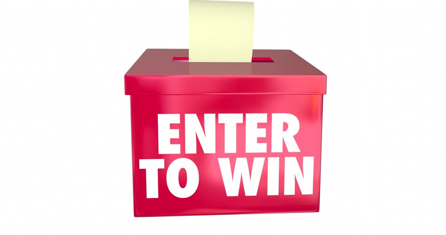 910x480 enter to win box sumit entry contest raffle prize drawing 4k stock