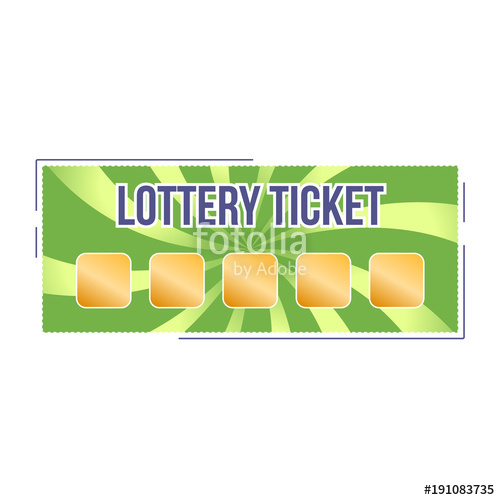500x500 Lottery Ticket For Drawing Money And Prizes. Lottery Luck, Fortune
