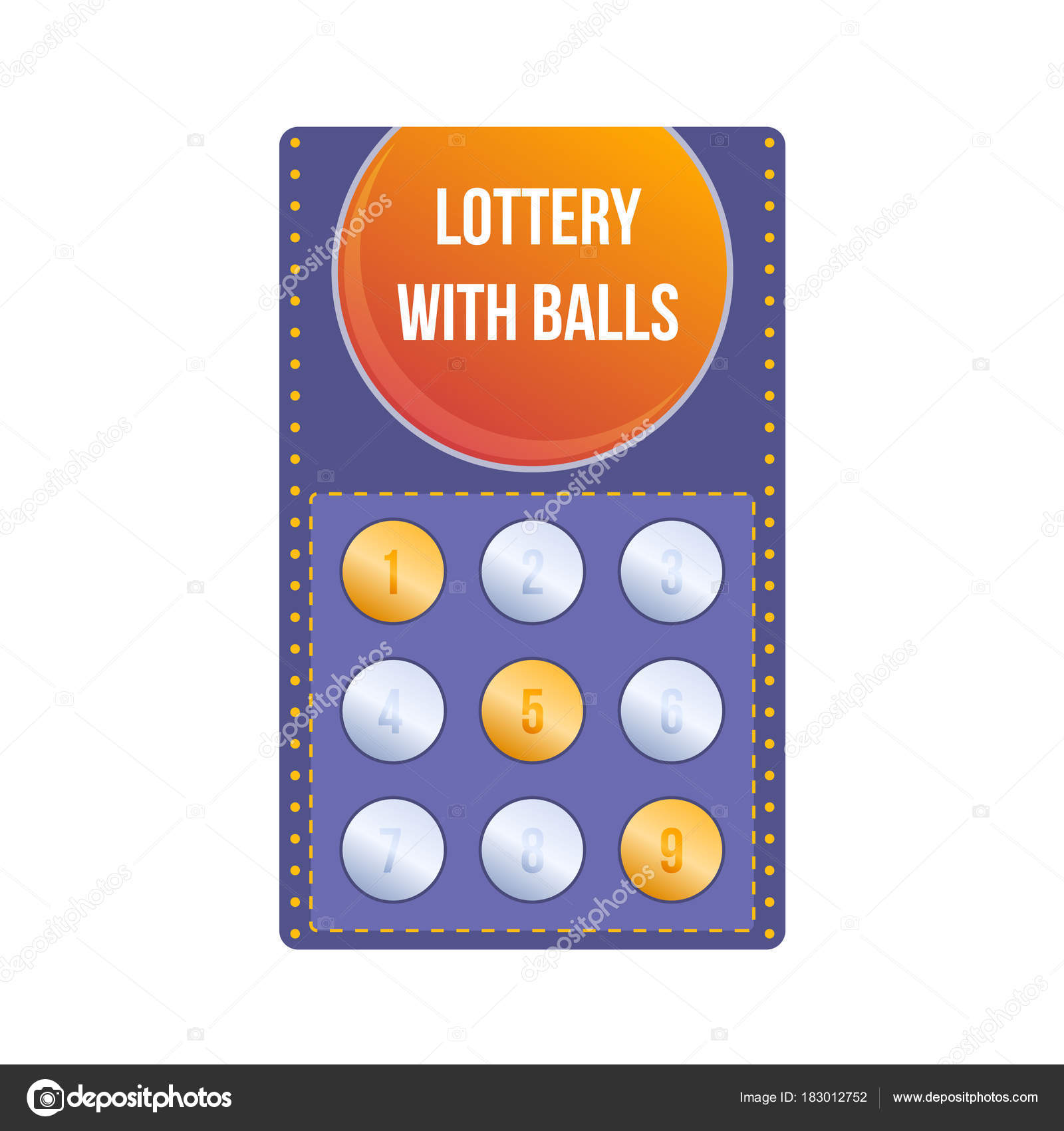 1600x1700 Lottery Ticket For Drawing Money And Prizes. Lottery With Balls