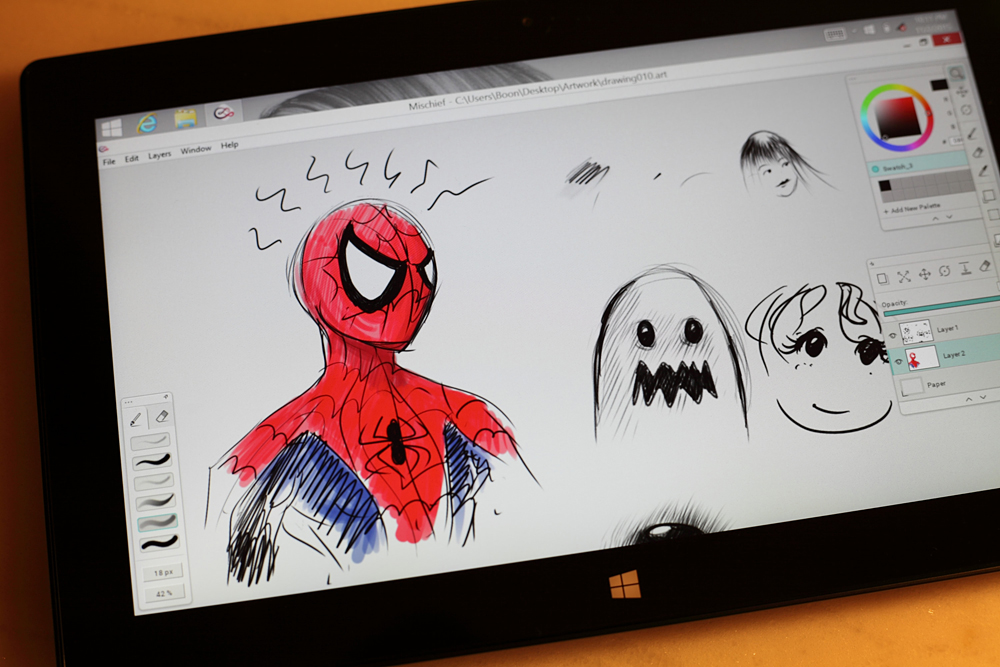 1000x667 Made With Mischief Microsoft Surface Pro As A Drawing Tablet