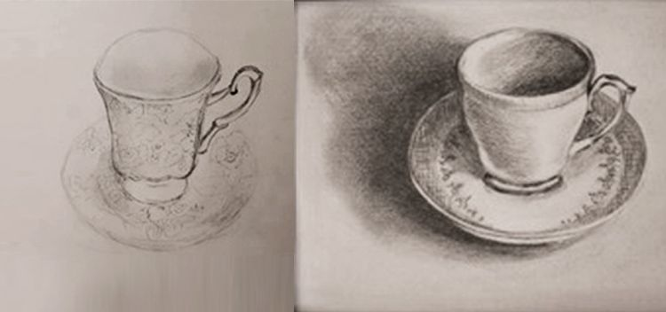 750x352 Casting A Shadow Assignment. Beginners Drawing Course, How To Draw