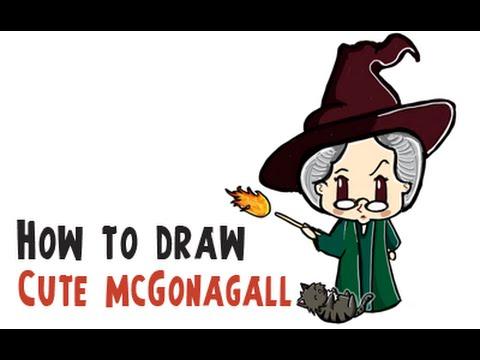480x360 How To Draw Cute Professor Mcgonagall (Harry Potter Cutiechibi