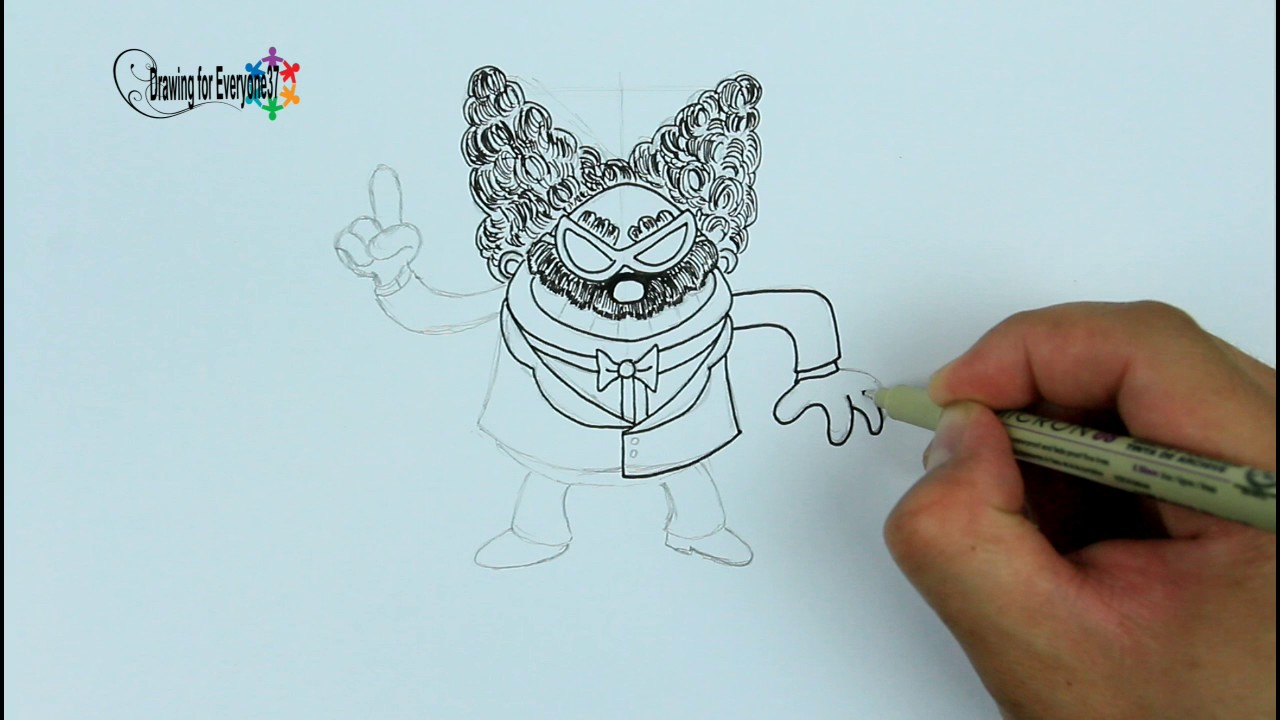 1280x720 How To Draw And Color Professor Poopypants From Captain Underpants