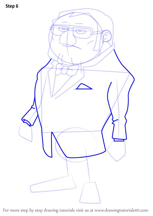 600x846 Learn How To Draw Bill Hawks From Professor Layton (Professor