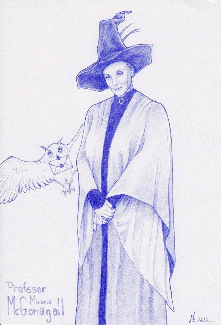 738x1083 Professor Mcgonagall By Christinamandy