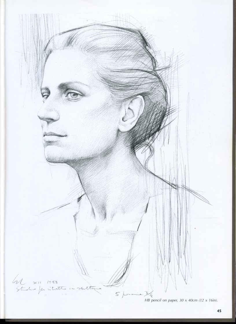 816x1123 Drawing A Profile Face Portrait Studies