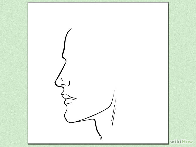 670x503 How To Draw Face Profiles 6 Steps (With Pictures)