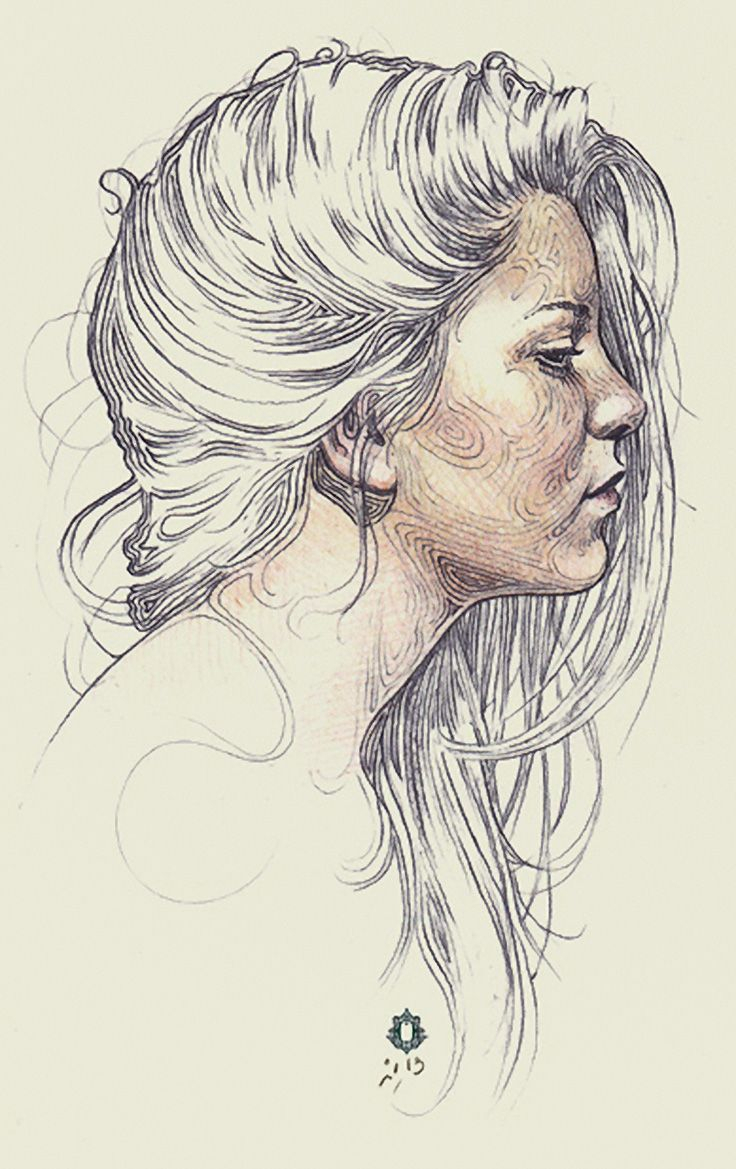 736x1169 Drawing Of A Profile Of A Girl 552 Best Portraits Drawing