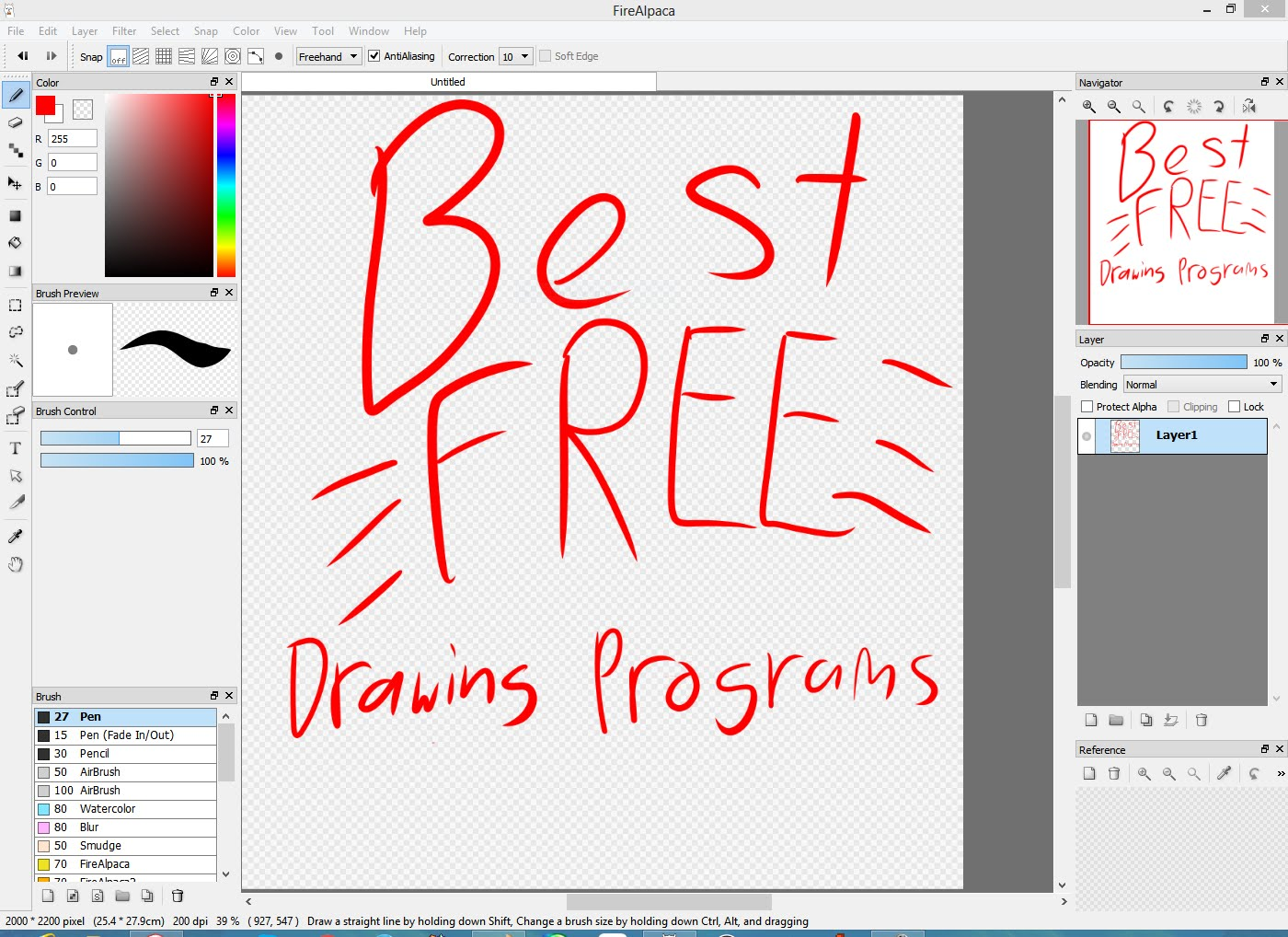 1400x1018 Best Free Digital Drawing Programs 2016 (With Links)