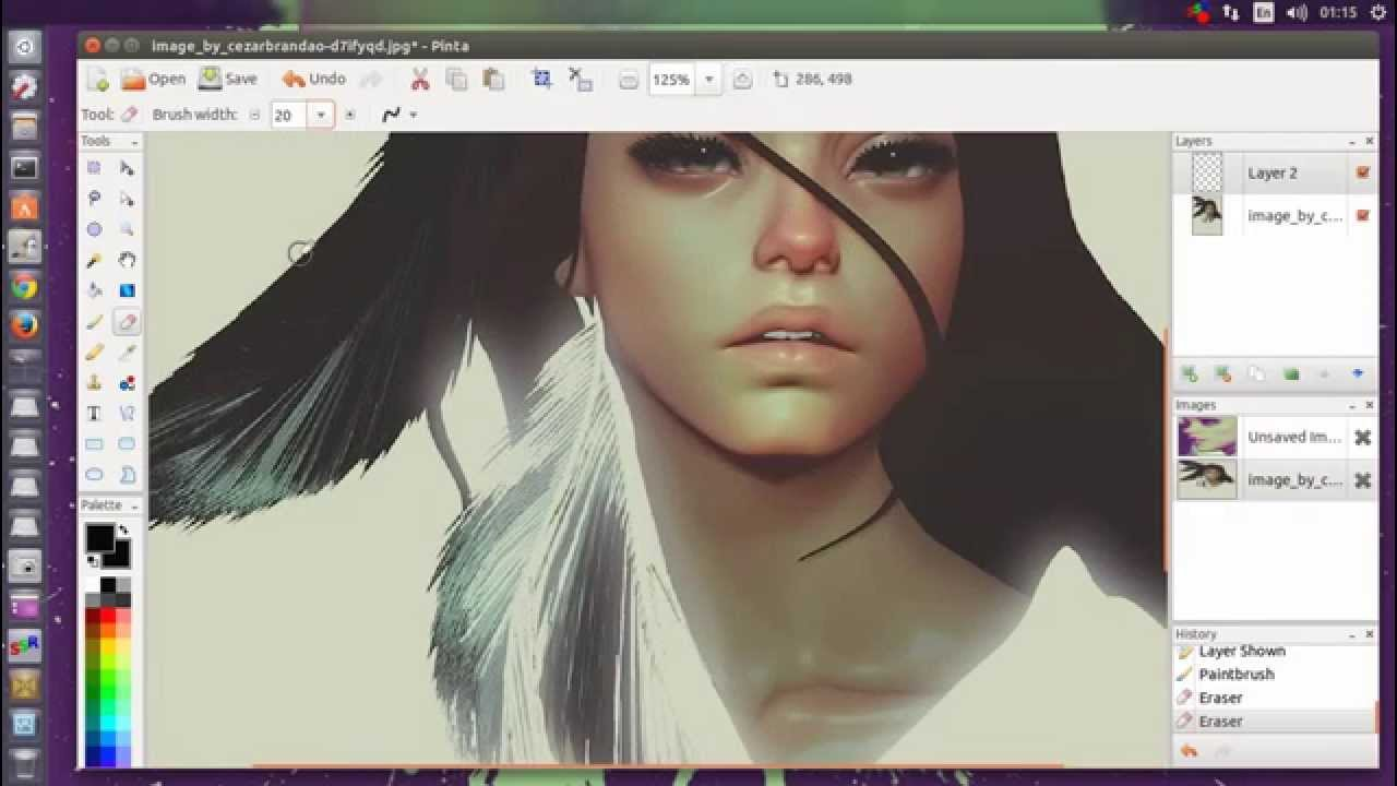1280x720 Pinta 1.5 Drawing Editing Program