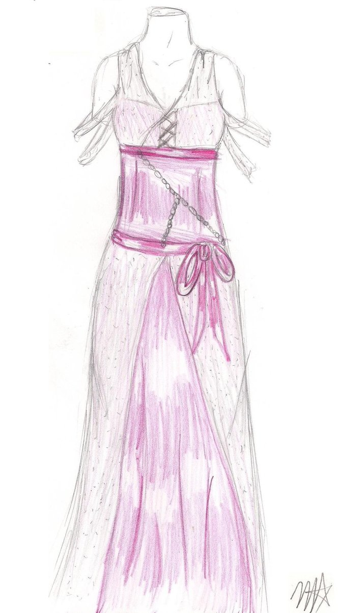 664x1203 Drawing Of Dream Prom Dresses Parte By The Dark Ninja