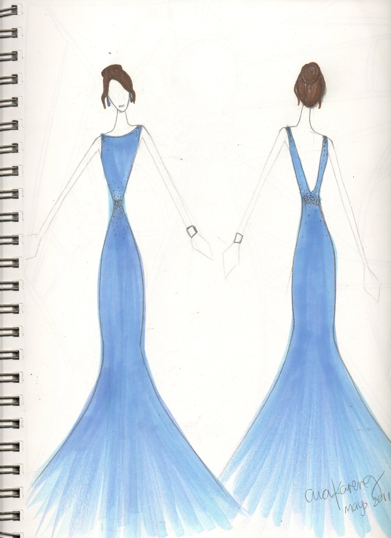 2040x2807 Prom Dress Drawing Designs Top