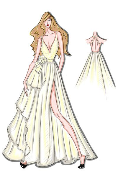 Prom Dress Drawing at GetDrawings.com | Free for personal use Prom ...
