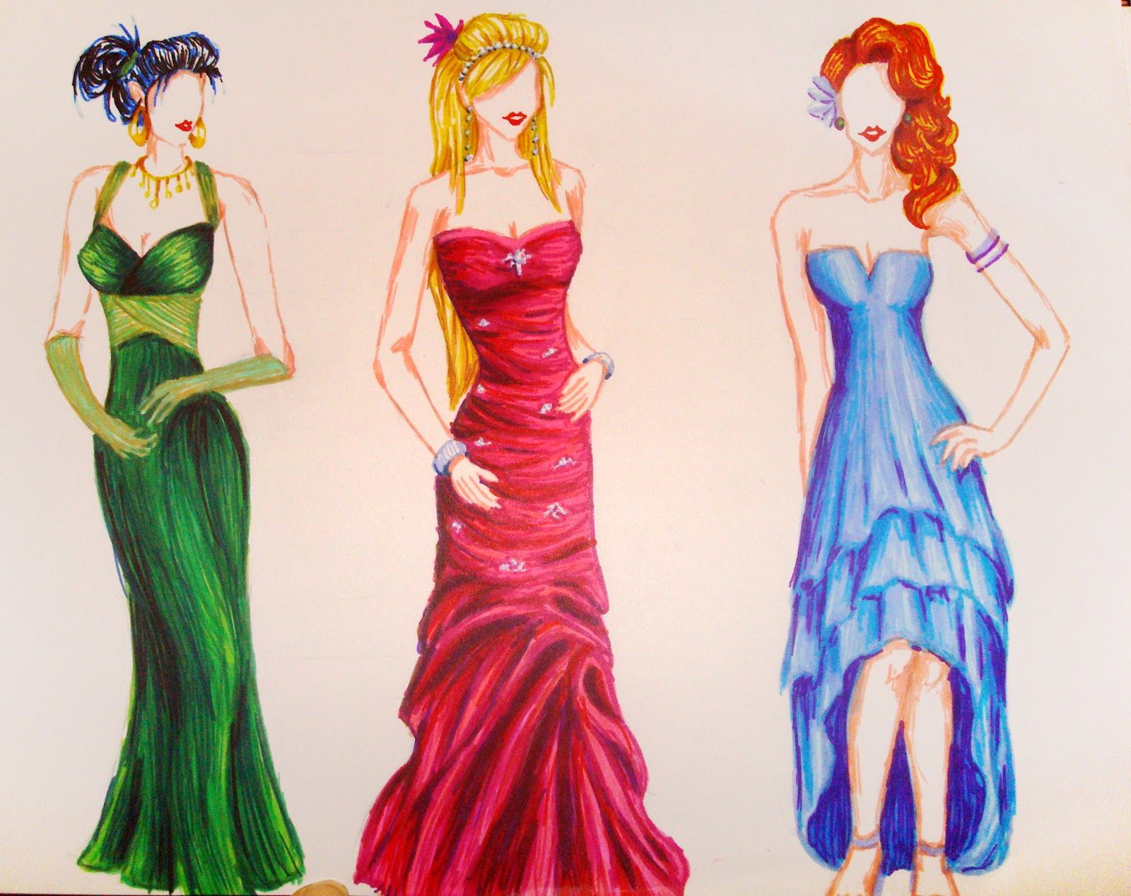 1600x1268 How To Draw Dresses,fashion Gallery For How To Draw A Prom Dress