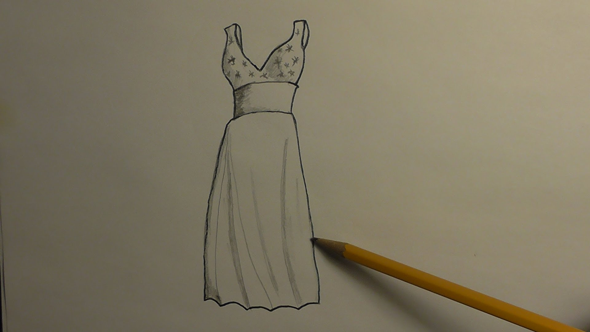 1920x1080 How To Draw A Prom Dress
