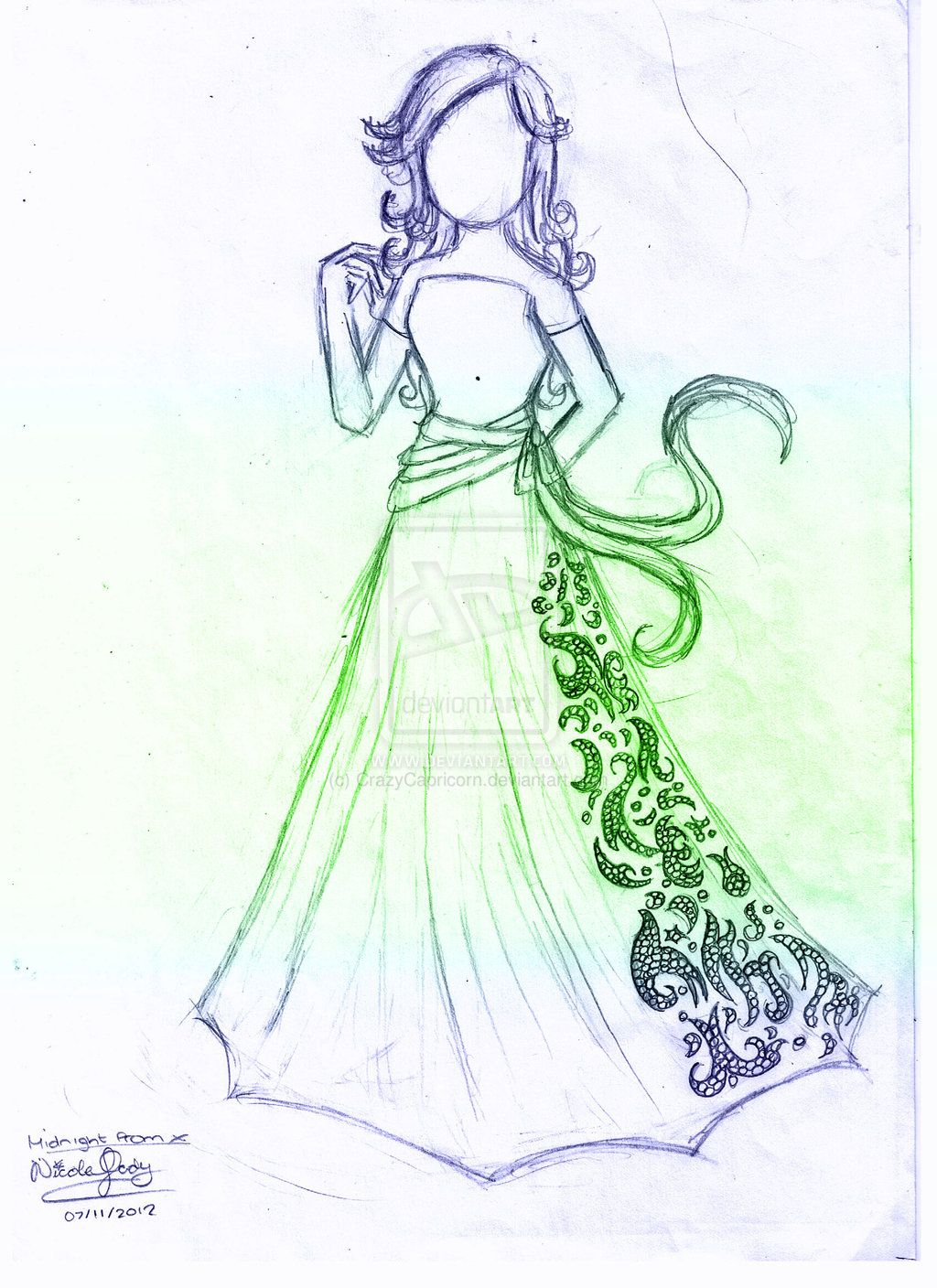 1024x1408 Prom Dress Drawings Sketches And Drawings