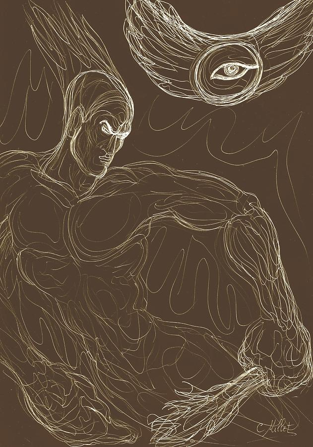 631x900 Prometheus, The Light Bearer Drawing By Cindy Millet
