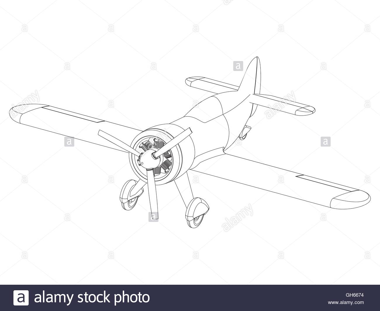1300x1065 Vector Isolated Propeller Plane Drawing Stock Vector Art