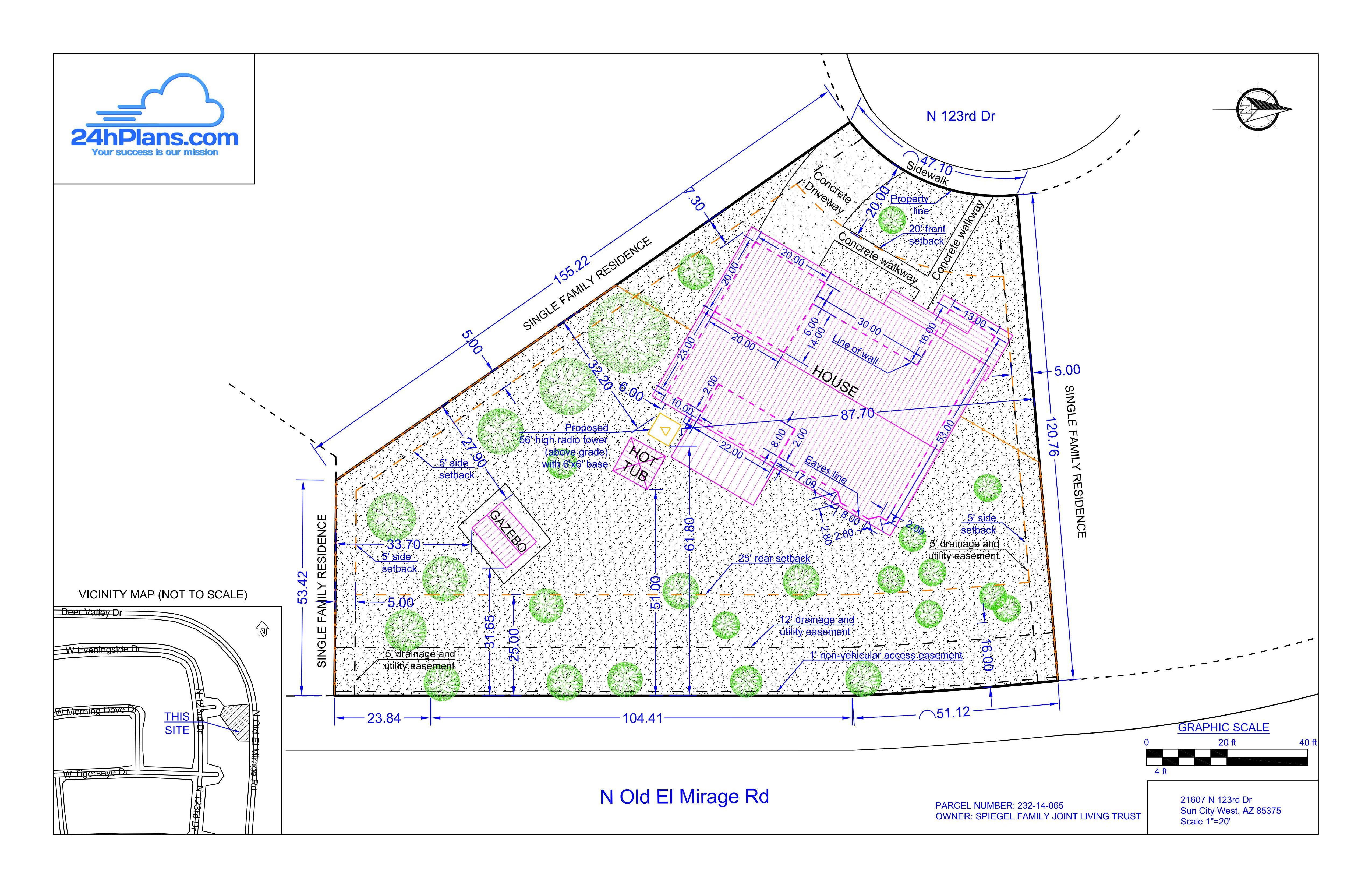 5100x3300 Land Survey Cost Vs. A Plot Plan