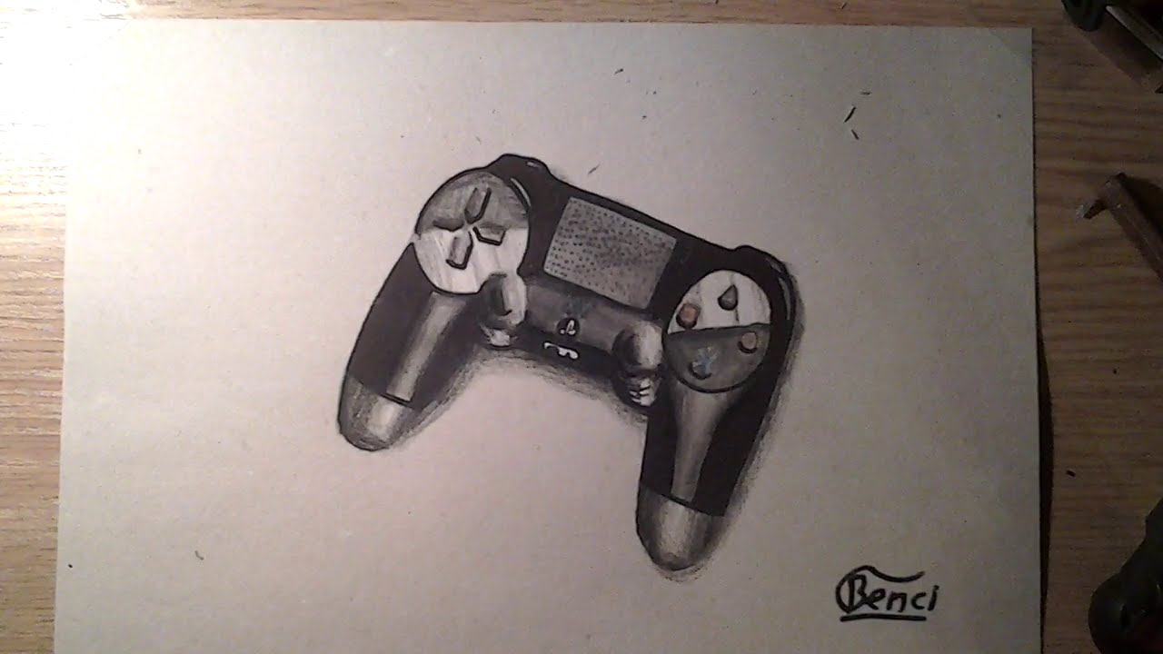 1280x720 Drawing Ps4 Controller Timelapse