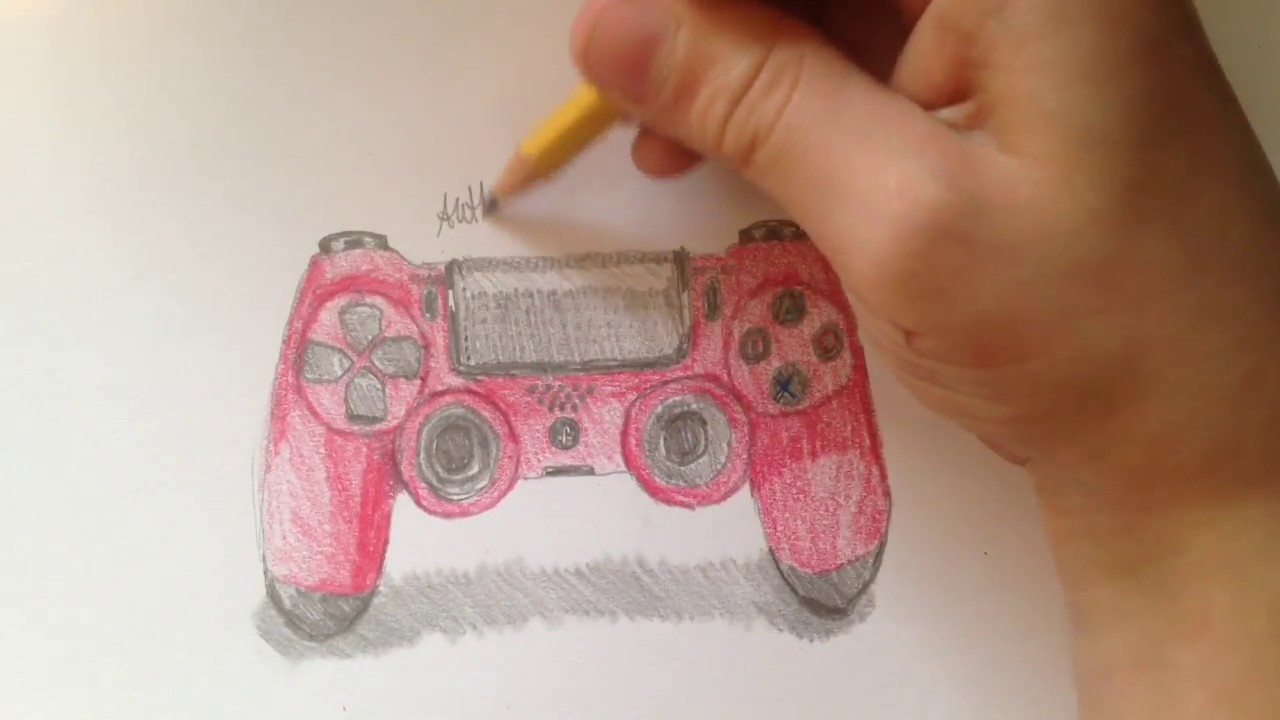 1280x720 Drawing A Ps4 Controller