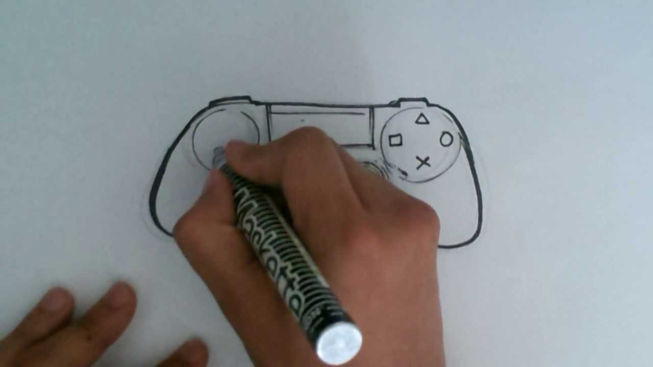 1280x720 How To Draw A Ps4 Controller