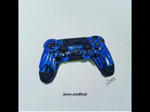 480x360 How To Draw A Ps4 Controller Speed Drawing