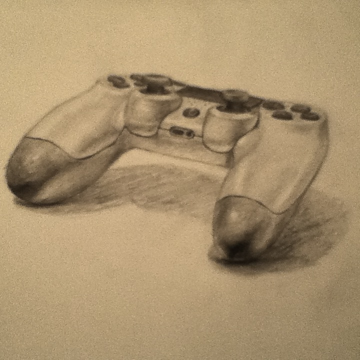 720x720 Ps4 Controller Sketch By Carmachiel