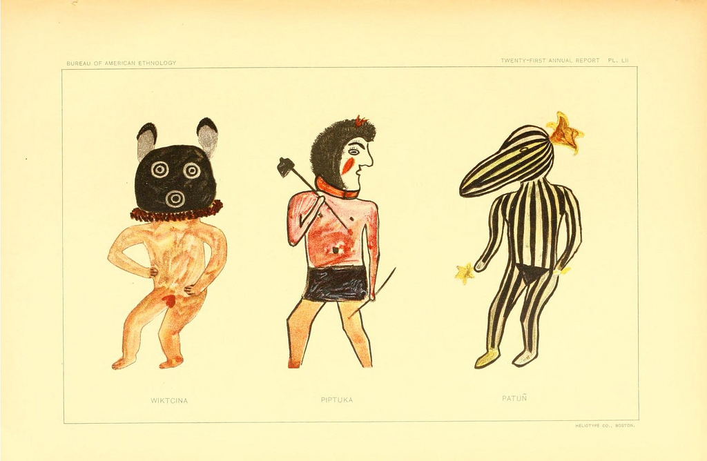 1024x668 Hopi Drawings Of Kachinas (1903) The Public Domain Review