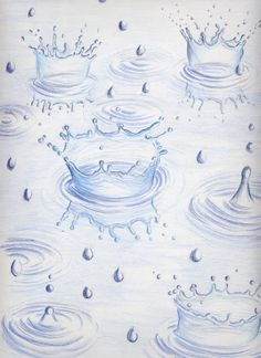 236x324 How To Draw Raindrop In Puddle