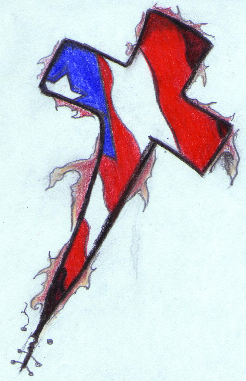 856x1324 Puerto Rican Cross Tattoo Sketch